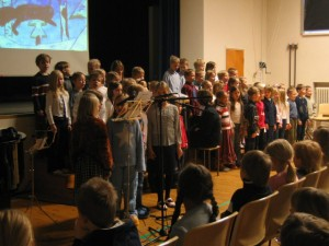 2nd Graders singing