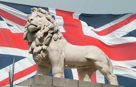 British flag with lion