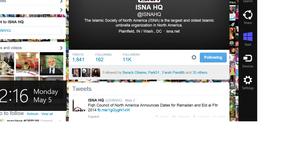 Obama follows ISNA
