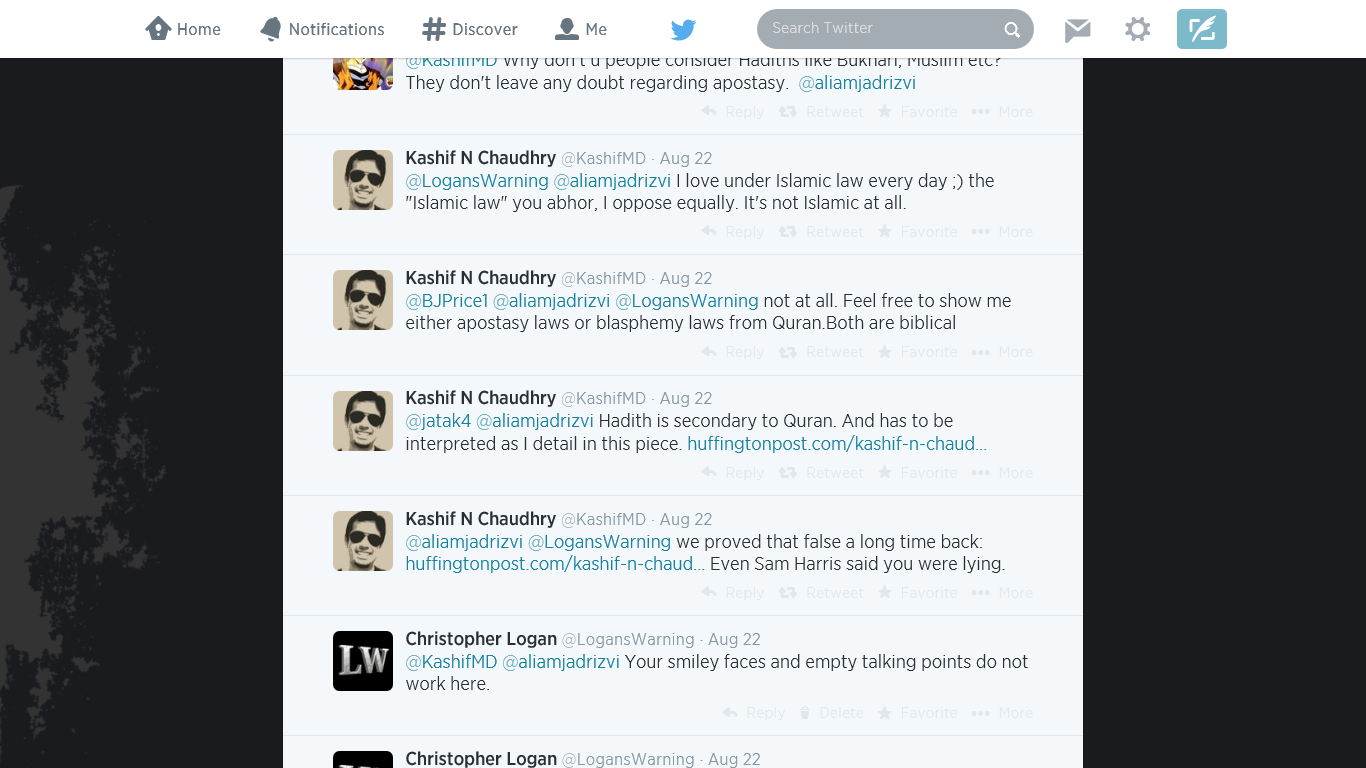 Kashif responds to others