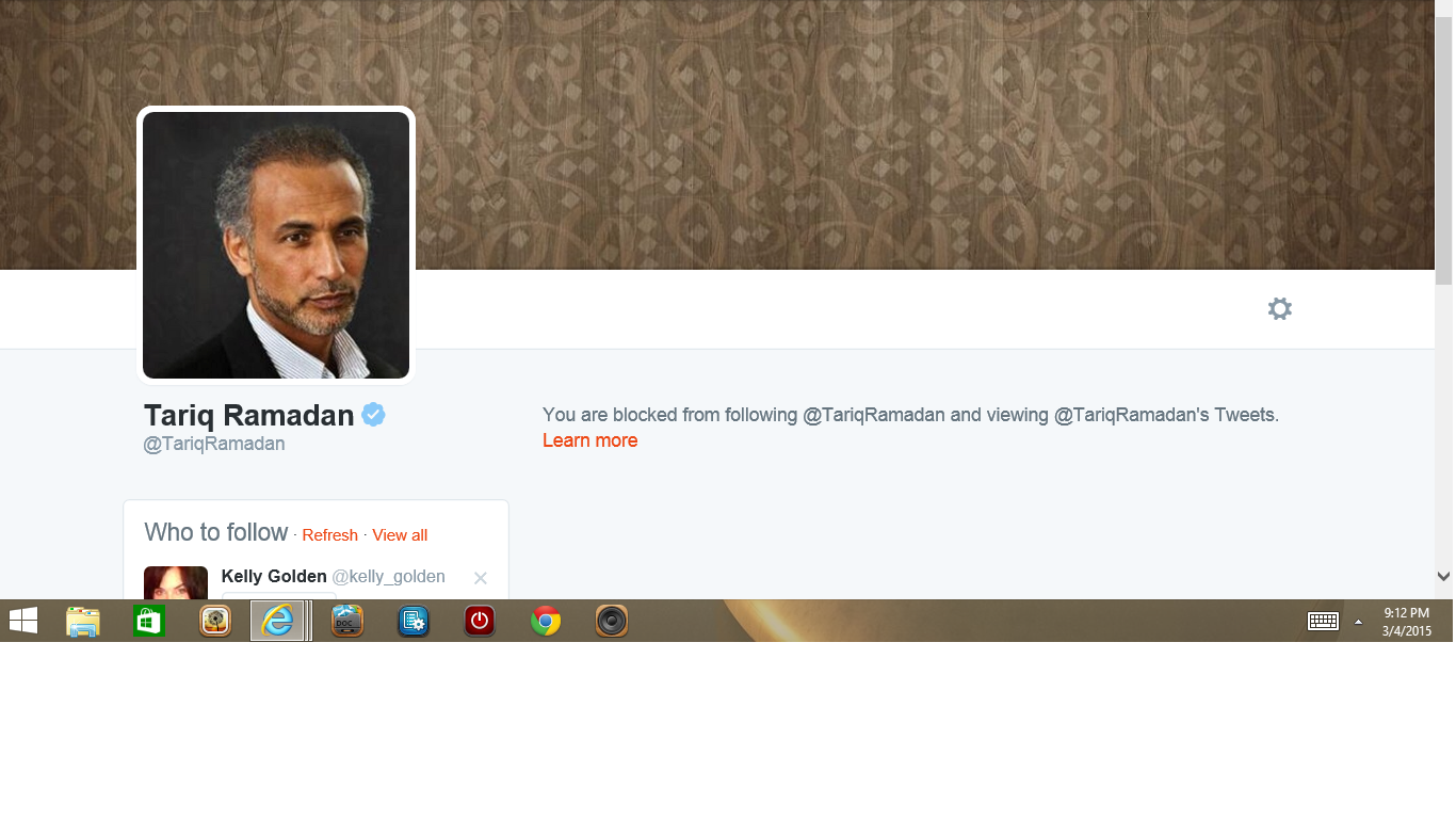 Blocked by 2 Tariq Ramadan