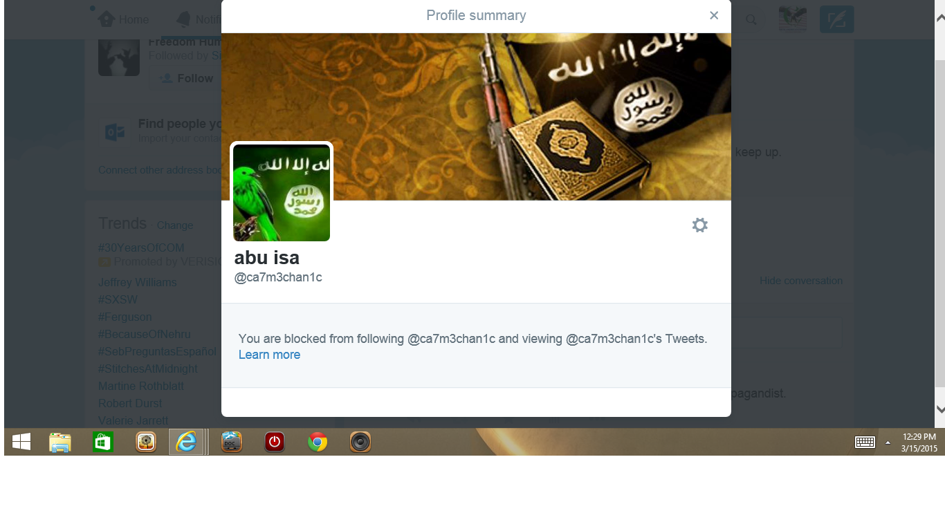 Blocked by 3 Abu