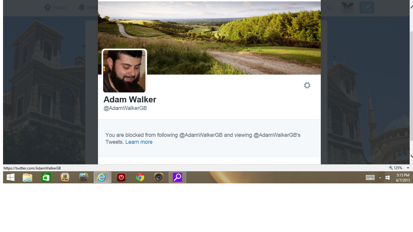 Blocked by 3 Adam Walker
