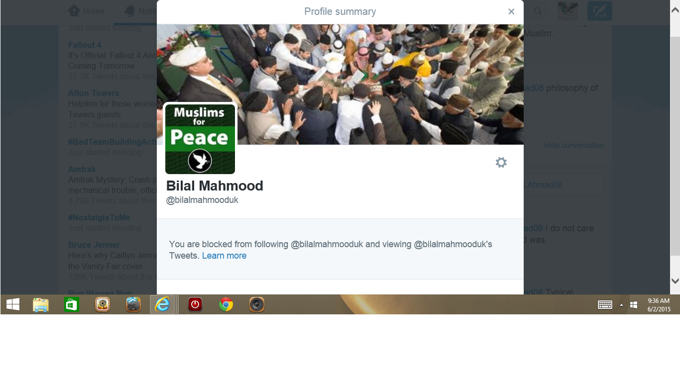 Blocked by 3 Bilal Mahmood check for double
