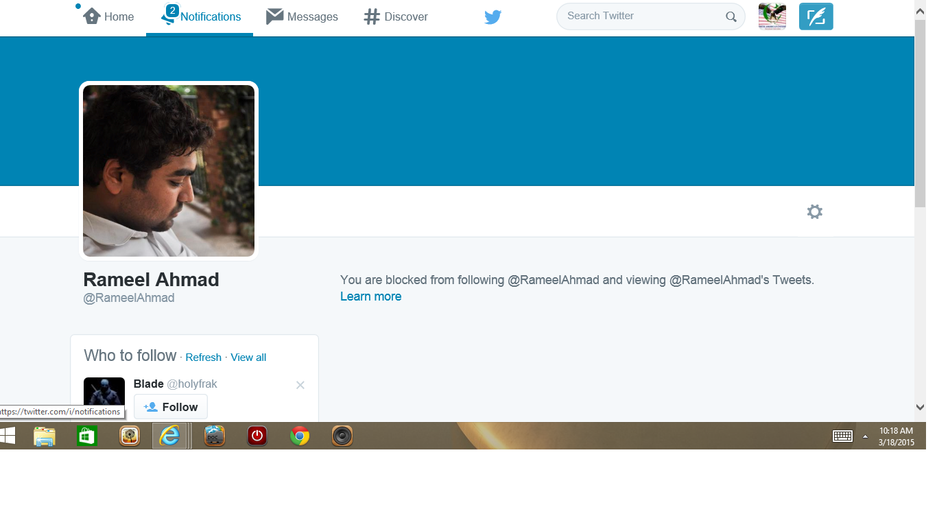 Blocked by 3 Rameel