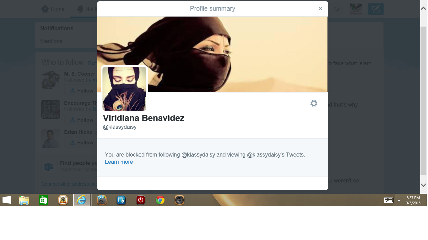 Blocked by 3 Viridana