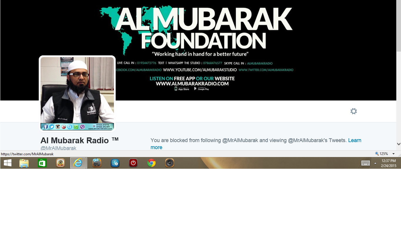 Blocked by Al Mubarak Radio