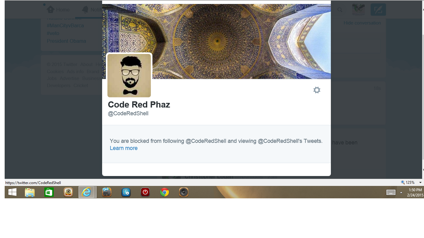 Blocked by Code Red Paz