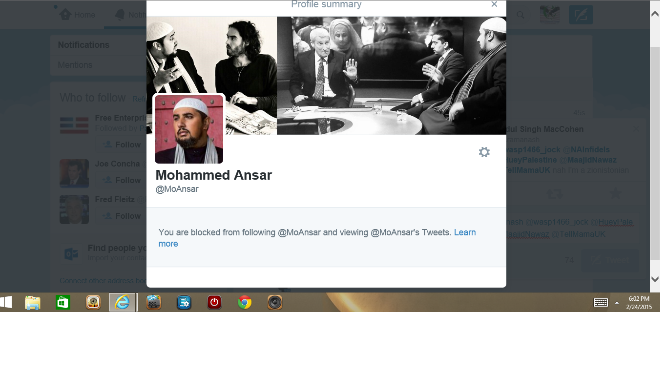 Blocked by Mo Ansar