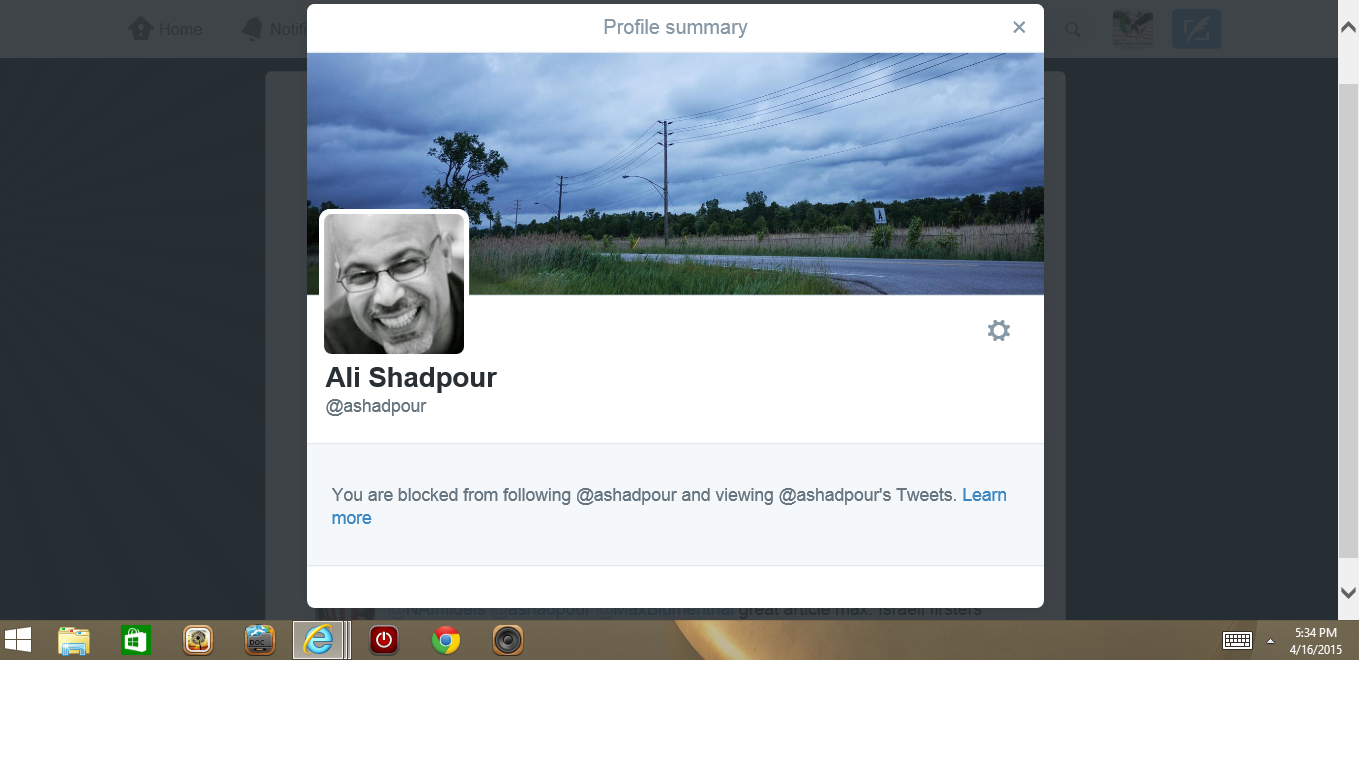 blocked by 3 Ali Shadpour