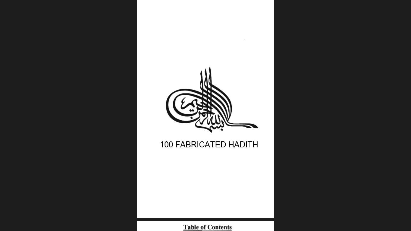 100 Fabricated Hadith 1