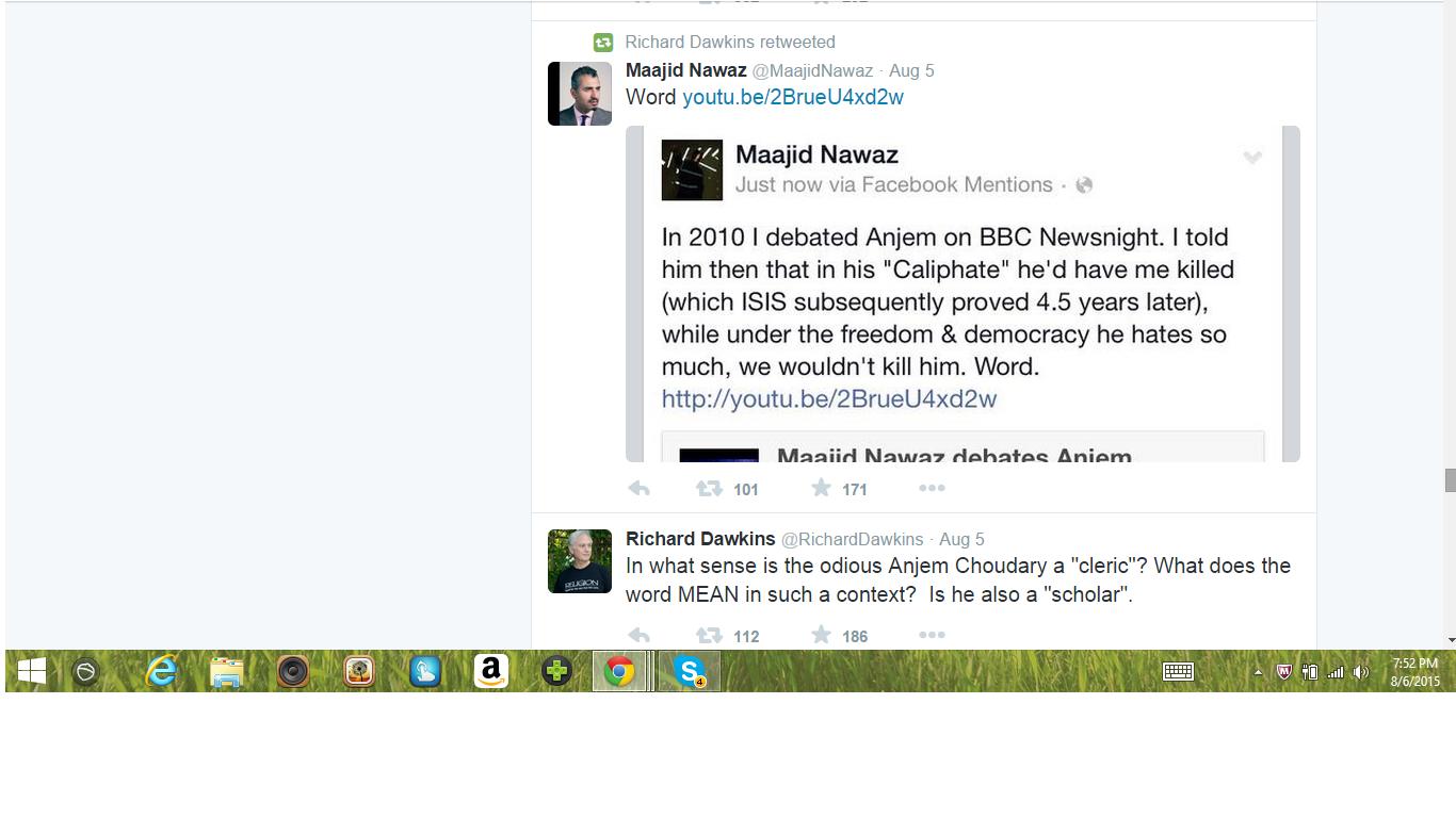 Dawkins and Nawaz