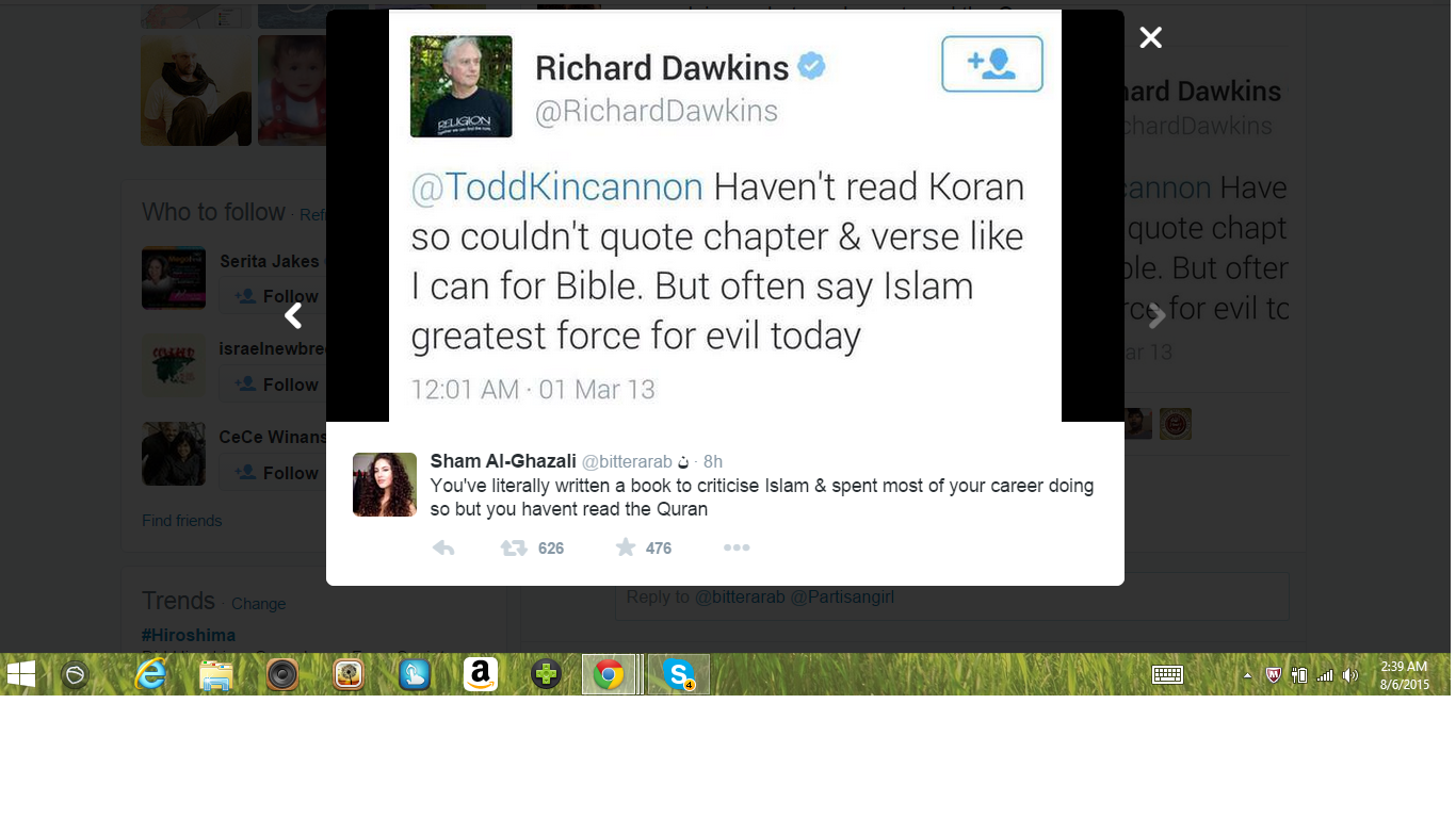 UKs Dawkins has not read a Koran