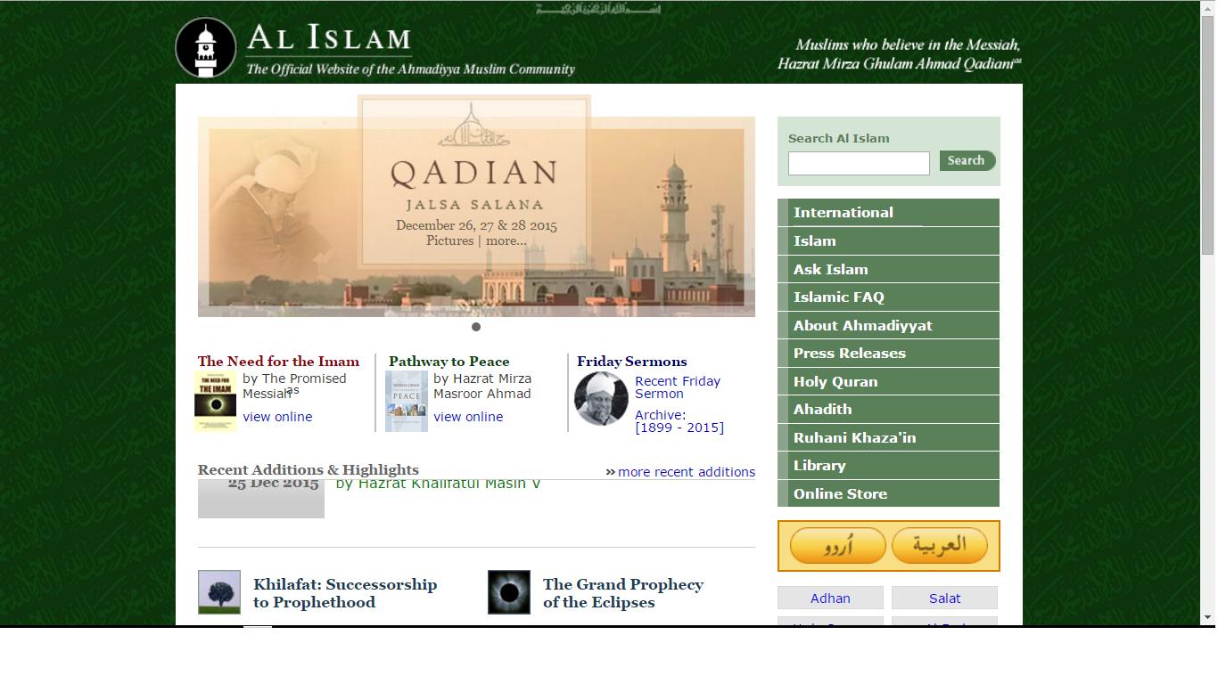 Ahmadi official site