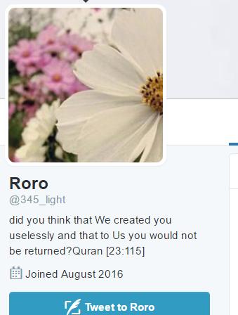 Mindset of a Muslim 4 Roro stoning bio