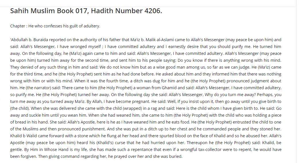 Muslim stoning preg